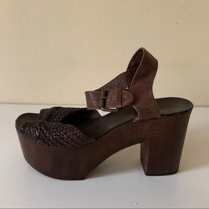 MIA wood platform sandals 8